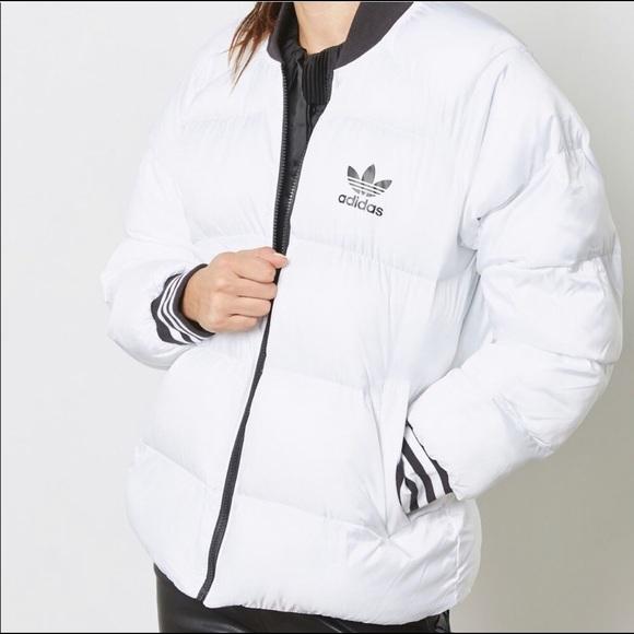 Adidas | Reversible Black + White Puffer
